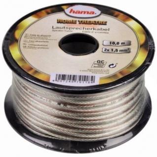 Hama 10m Lautsprecherkabel Professional 2x 0, 75 mm² Spule für HiFi-Anlagen Boxen - Vorschau