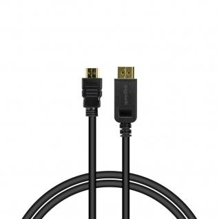 Speedlink DisplayPort zu HDMI Kabel 1.8m HQ Audio Video 4K Anschlusskabel