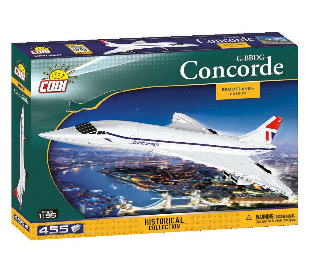 Cobi 1917 Concorde-BL-Museum Modellbausatz Historisches Jet-Flugzeug 450 Teile