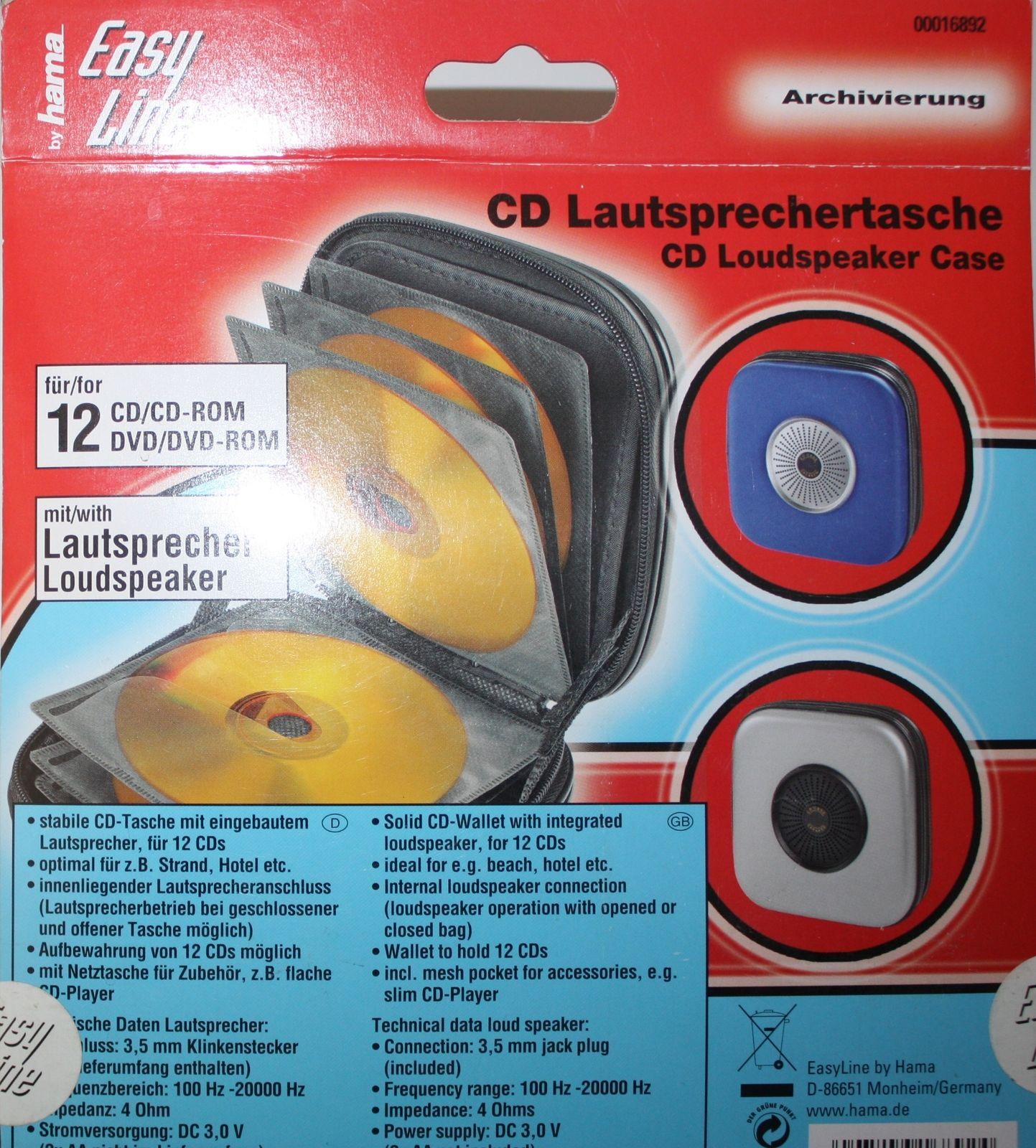 Hama CD Lautsprechertasche CD Box für 12 CDs Lautsprecher Tasche ...