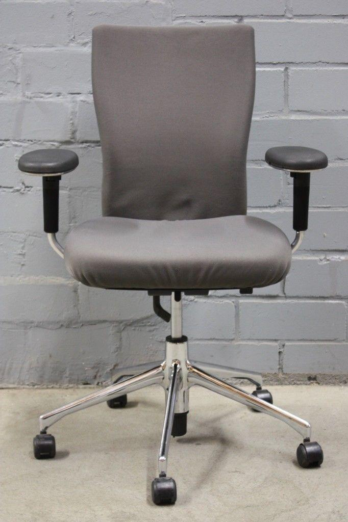 Bürostuhl design rollen  Vitra T-Chair Design Bürostuhl Bürodrehstuhl Grau Chrom Rollen ...