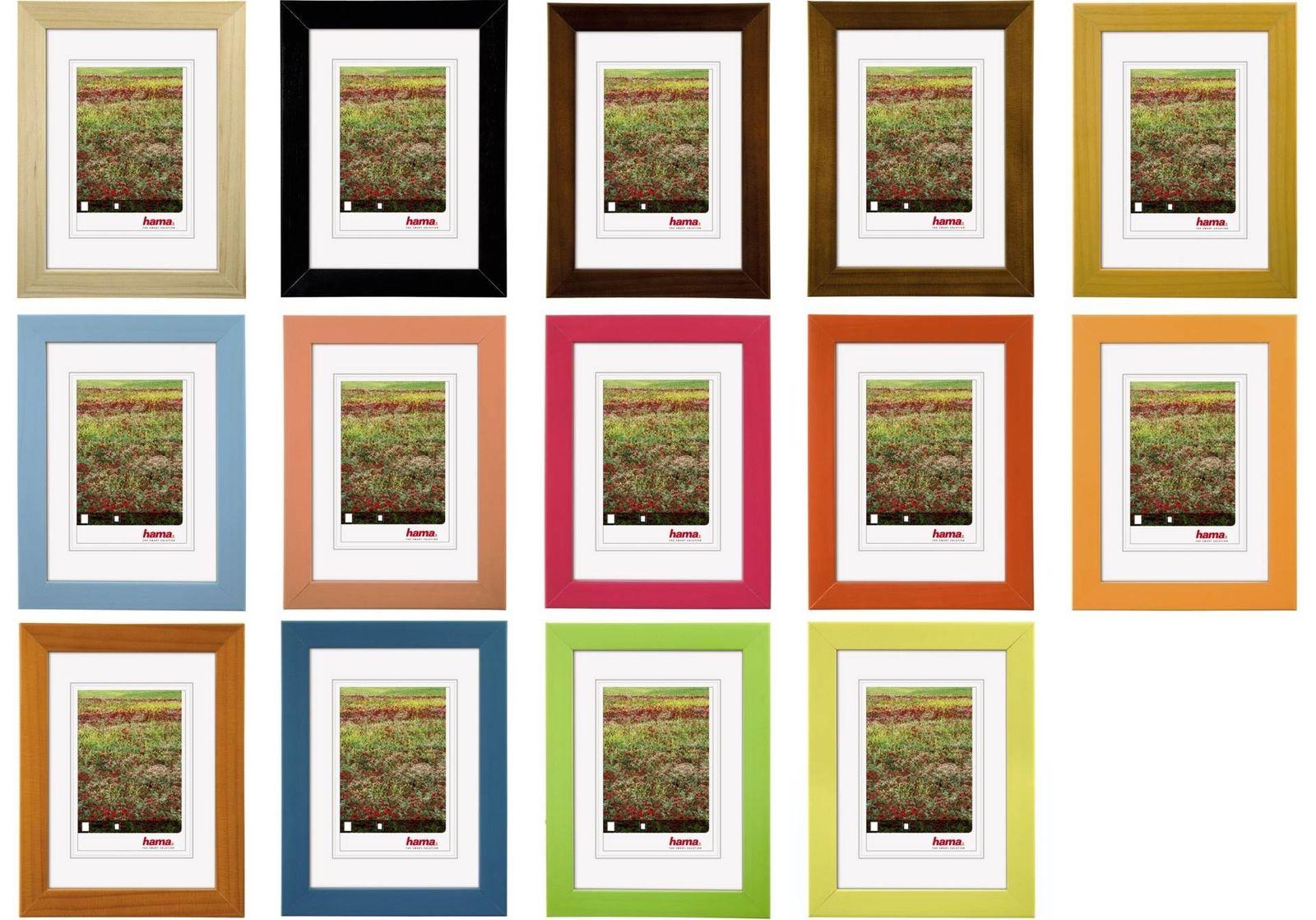 Hama Holz Rahmen Foggia Bilder-Rahmen Poster Fotos Portrait Wand ...