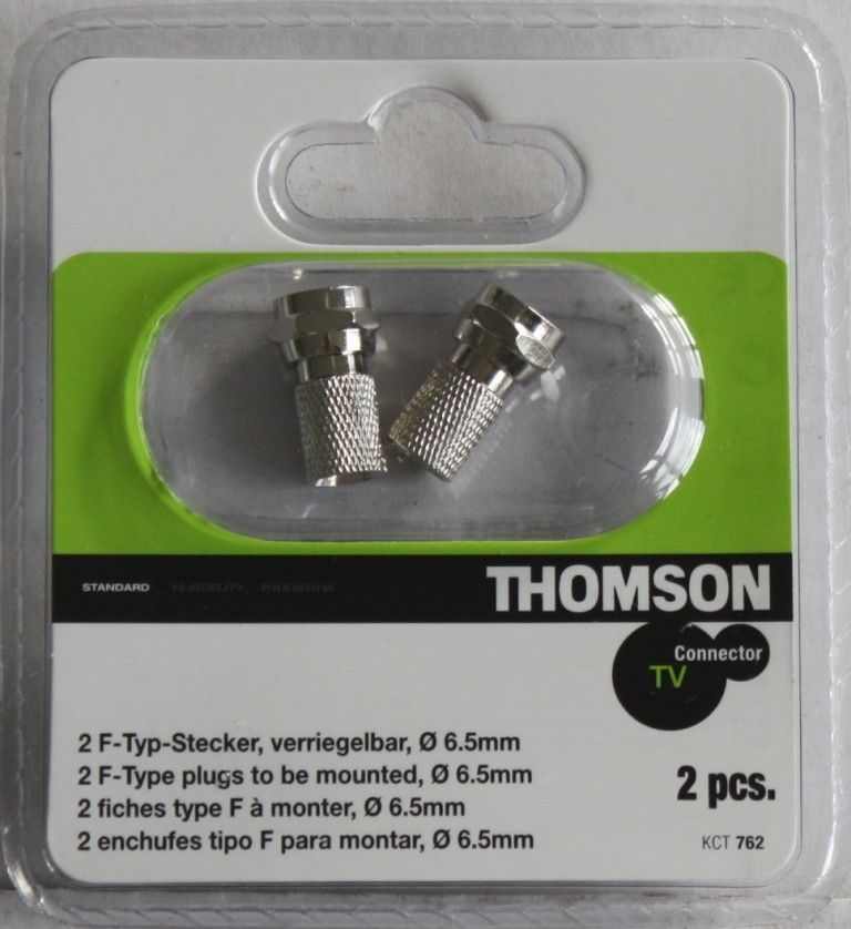 Thomson 2er Set F-Typ F-Stecker Antenne Koaxial-Kabel Koax-Kabel TV ...