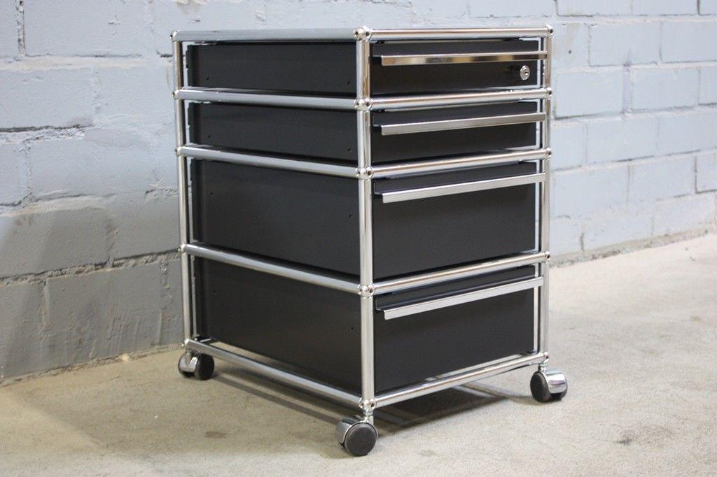 usm haller schreibtisch container rollcontainer 4 ausz ge. Black Bedroom Furniture Sets. Home Design Ideas