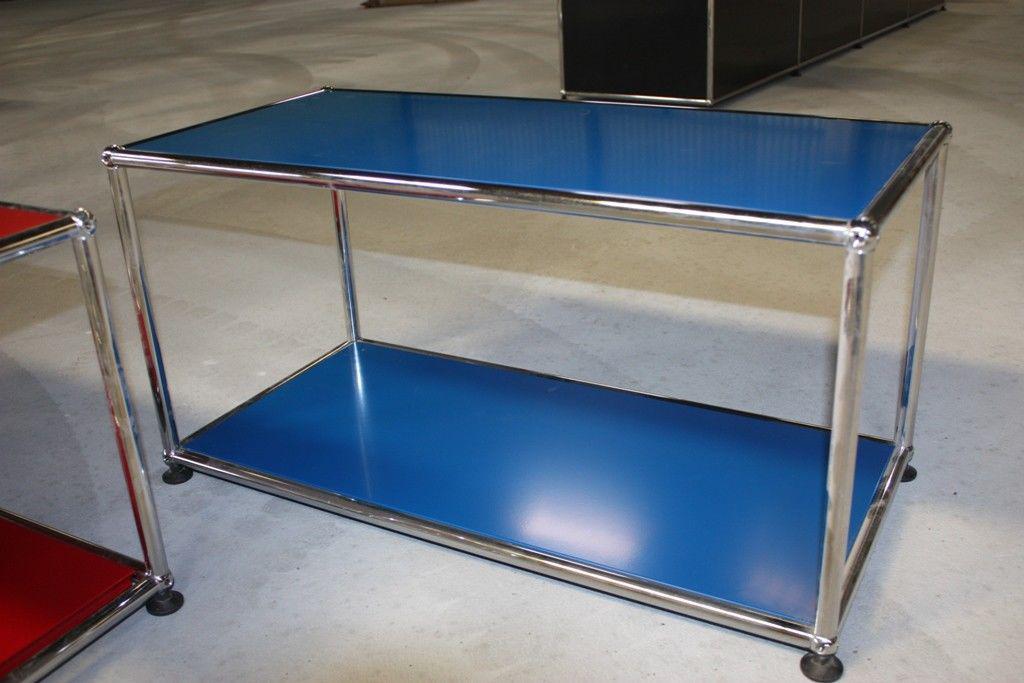 usm haller sideboard fach regal tisch blau und wahlweise. Black Bedroom Furniture Sets. Home Design Ideas