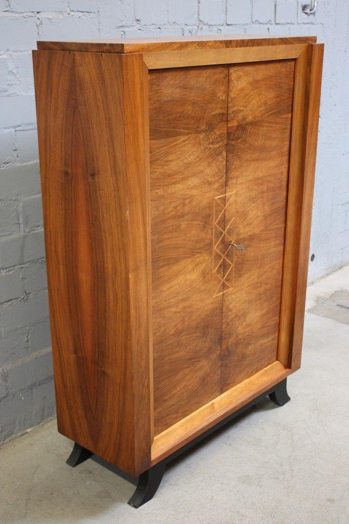 antiker luxus schrank fr h klassizismus intarsien edel. Black Bedroom Furniture Sets. Home Design Ideas