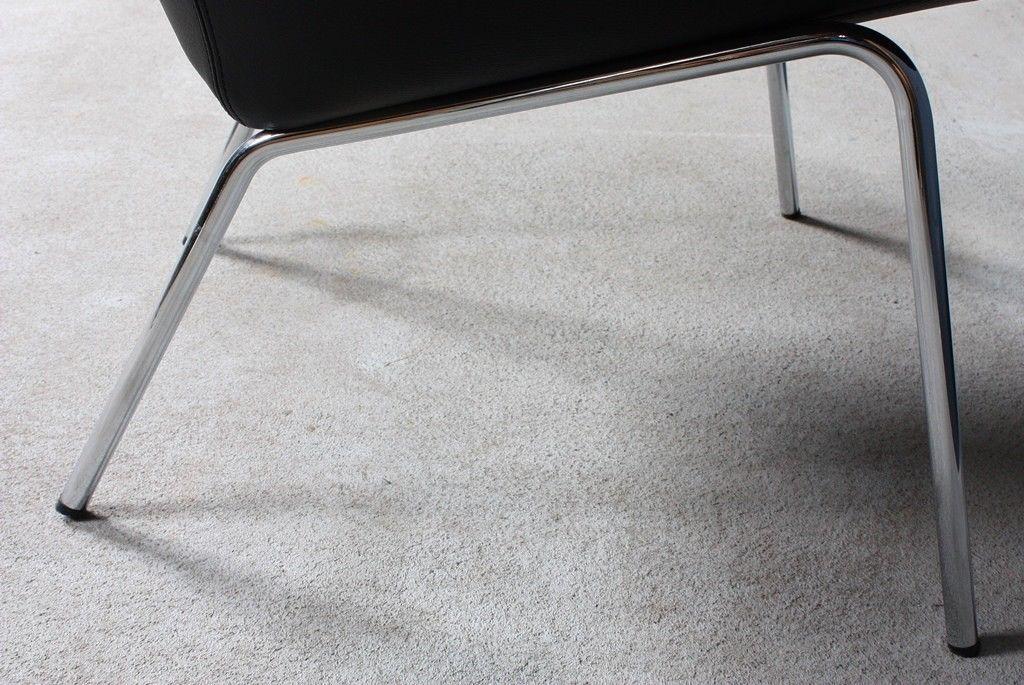 walter knoll designer lounge chair stuhl 369 leder schwarz 50er, Hause deko