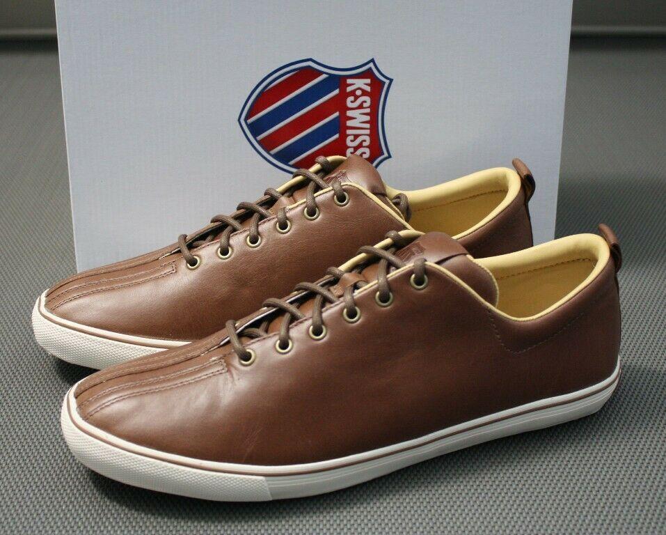 5b19ed076e83a0 K-SWISS Clean Malibu VNZ Leder Sneaker braun Gr. EUR 39 - 45 Schuhe ...