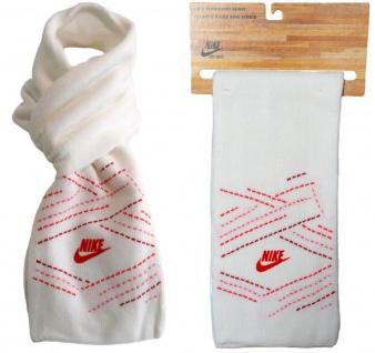 Nike Knit Scarf Strick Schal weiß pink rot 156 cm Damen Halsschal Winterschal