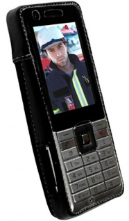 Krusell Handy-Tasche + Clip Leder für Sony Ericsson Naite Hülle Case Cover Bag