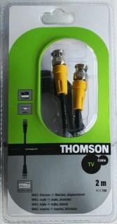 Thomson 2m PROFI BNC-Kabel Audio Video Kabel 75Ohm Koaxial TV Plasma Mischpult