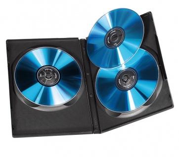 Hama 5x DVD-Hüllen für 3 DVDs 3er 3-Fach Leer-Hülle Box Case CD DVD Blu-Ray Disc - Vorschau 2