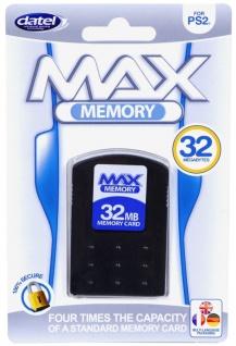 Original Datel MAX Memory Card 32 MB Speicher-Karte Adapter für Sony PS2 Konsole