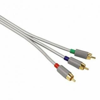 Hama 3m YUV RGB Component-Kabel Gold Cinch-Stecker Komponenten-Kabel Koax HD TV
