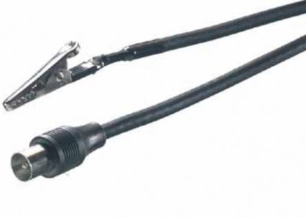 Vivanco Krokodil-Klemme Koax-Stecker Klemm Antennen-Kabel Koaxial-Kabel Klammer