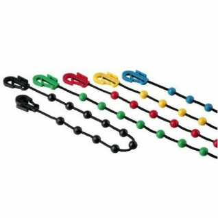 10x Hama Pearl Fix Sortiment 18cm/36cm Kabelbinder Schnell-Binder Kabel Manager
