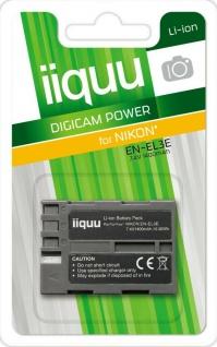 GP iiquu Li-Ion Akku für Nikon EN-EL3E ENEL3E D50 D70 D70s D80 D90 D800 D700 etc
