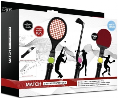 SL 3in1 Sport Pack Tisch- Tennis Golf für Sony PS4 PS3 Move Motion Controller