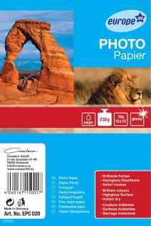 Avery Zweckform 70 Blatt 10x15 cm 230g Foto Papier Karten weiß glanz Fotopapier