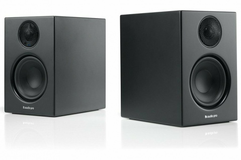 Audio Pro Addon T14 Black Bluetooth 2x Aktiv Regal-Lautsprecher Boxen BT Speaker