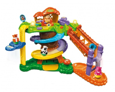 Vtech Baby ZoomiZooz Baumhaus Spiel-Set 4 Figuren Tiere Kuh Affe Tiger Spielzeug