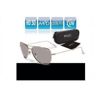 EX3D Flieger 3D Brille passiv für LG Philips Sony Panasonic etc 3DTV TV RealD HD