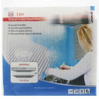 ScanPart 2x Dunstfilter Universal 47x57cm Fett-Filter bis 60cm Dunst-Abzugshaube