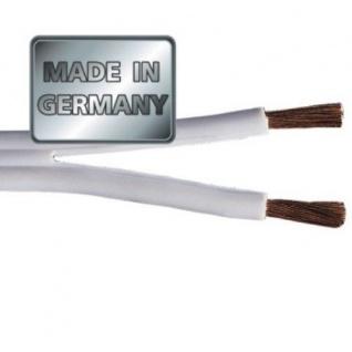 Hama 300m Lautsprecherkabel 2x 0, 75mm² 2-adrig Boxenkabel Hifi Kabel Weiß - Vorschau 2