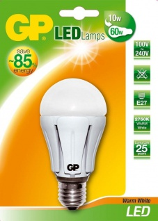 GP LED Birne dimmbar E27 11, 5W / 60W Warmweiß 3000K Lampe Glühbirne Leuchtmittel