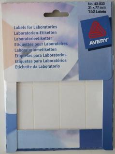 Avery Zweckform 152x Universal Labor-Etiketten weiß A4 77x31 mm Aufkleber Mini