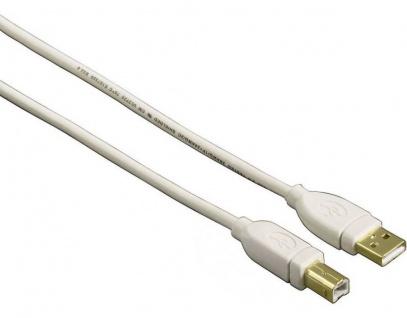 Hama 7, 5m Premium USB-Kabel Anschlusskabel für PC Drucker Druckerkabel Scanner
