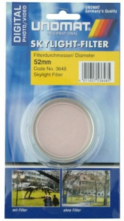 Unomat Skylight-Filter 52mm Sky-Filter 1A für Digital DSLR DSLM Foto Kamera etc. - Vorschau 1