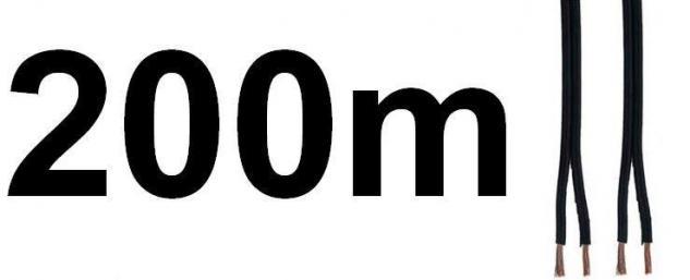 (0, 24?/1m) Hama 200m ROLLE Kabel 0, 75mm Lautsprecherkabel LS-Kabel Boxen-Kabel - Vorschau 1