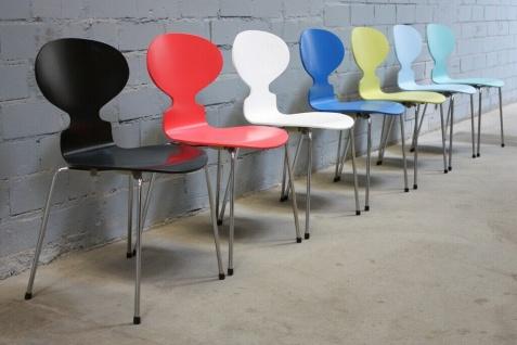 Design Fritz Hansen by Arne Jacobsen 3101 Stuhl Ameise Chair 4-Bein stapelbar - Vorschau 2