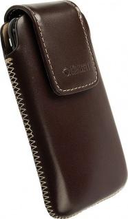 Krusell Vinga Mobile Case M brown Classic Case Leder-Tasche Etui Bag Hülle
