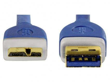 Hama HQ 3m USB 3.0 USB-Kabel Micro-B-Stecker Micro-USB Gold geschirmt PC HDD Hub - Vorschau 2