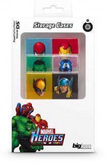 Marvel 6x Game-Cases Boxen Spiele-Hüllen für Nintendo DS DSi DS Lite Module Box