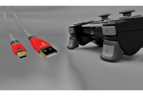 Gioteck Play & Charge Pack USB Ladekabel + Real Triggers für Sony PS3 Controller
