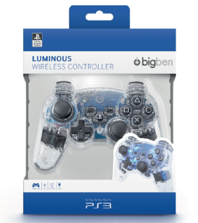 Bigben Wireless Controller Offiziell Lizenziert Beleuchtet Gamepad für Sony PS3