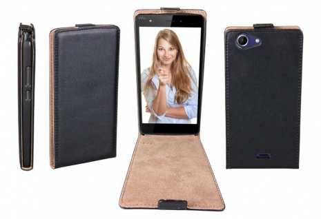 Patona Slim Flip-Cover Klapp-Tasche Schutz-Hülle Case Cover für Wiko Plup Fab 4G