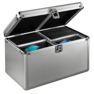 Hama CD DVD Koffer 200x CDs Silber DJ Case Aufbewahrungs-Box Alukoffer Alu-Kiste