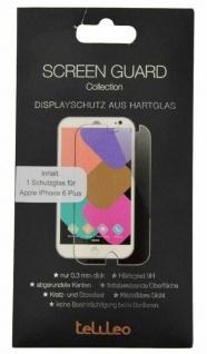 Telileo Hart-Glas Display -Folie Schutz-Folie Panzer für Apple iPhone 6 6s Plus