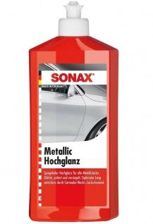 Sonax Metallic-Lack Hochglanz 500ml Lack-Politur Pflege Glanz-Politur Canauba