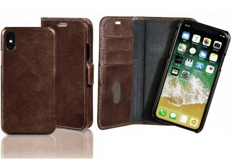 Pazzimo 2in1 Booklet + Cover Smart Case Tasche Hülle für Apple iPhone X / Xs
