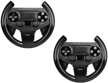 Hama PACK 2x Lenkrad Racing Wheel Controller Halterung für PS4 Wireless Game-Pad