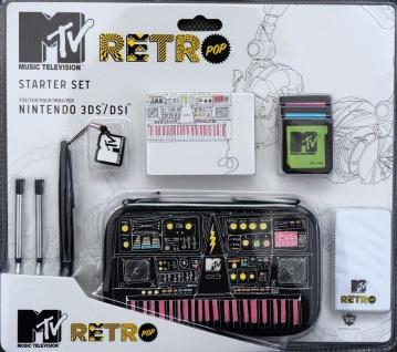 Hama MTV Retro Starter Kit Tasche Hardcase Stifte für Nintendo 3DS DSi DS Lite