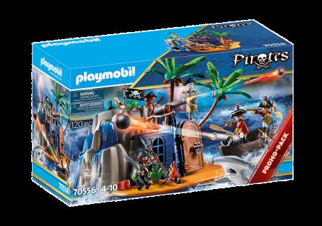 Playmobil 70556 Pirateninsel mit Schatzversteck Kinder-Spielzeug Piraten-Schatz