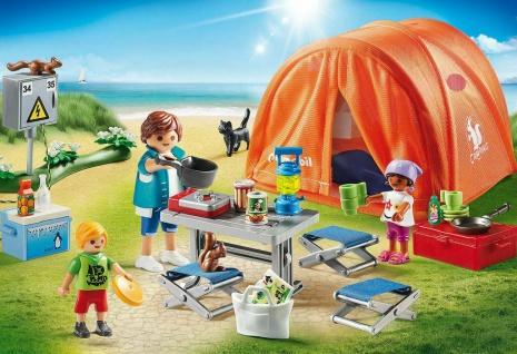 Playmobil 70089 Family Fun Familien-Camping Strandurlaub Campingplatz Spielzeug