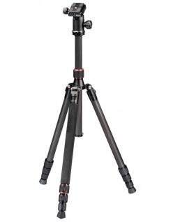Hama Dreibein-Stativ Trekking Duo Carbon 160cm 3D Kamera-Stativ Foto-Stativ