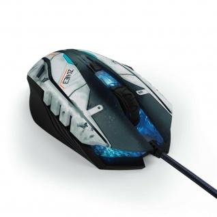 Hama uRage Gaming-Mouse Morph SciFi Kabel-Maus PC LED 2400dpi 6 Tasten Omron